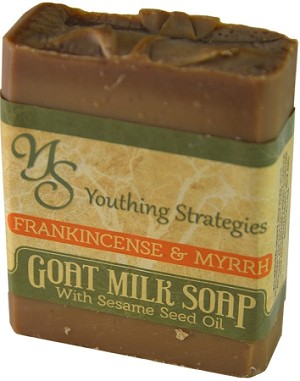 Frankincense and Myrrh Goats Milk soap with Sesame seed oil
