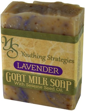 Lavender Goats Milk soap with Sesame seed oil